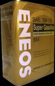 Моторное масло ENEOS SUPER GASOLINE 100% SYNTHETIC 5W-50 (0,94л, 4л, 20л)