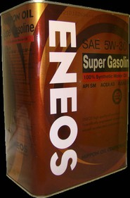Масло моторное ENEOS SUPER GASOLINE 100% SYNTHETIC 5W-30 (0,94л, 4л, 20л)